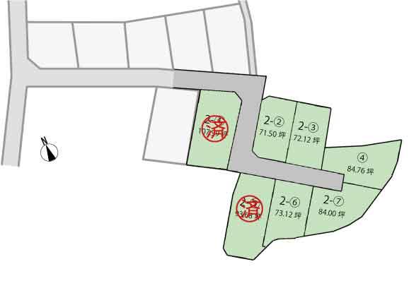 発表!Fステージ山梨市小原西Ⅱ 全7区画